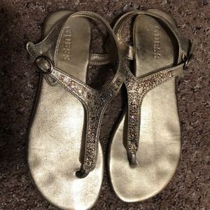 Gold Guess sandals